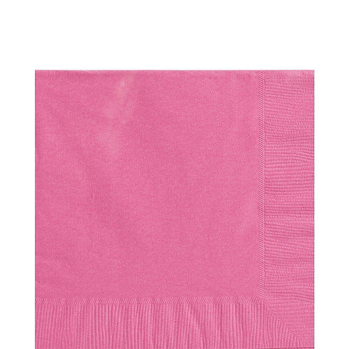 Bright Pink Paper Lunch Napkins, 6.5in, 100ct Image #1