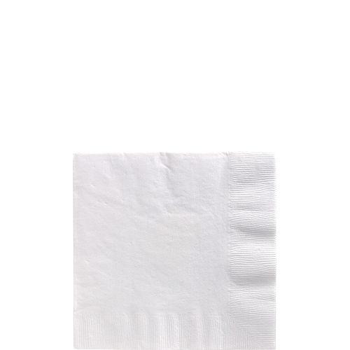 White Paper Beverage Napkins, 5in, 100ct Image #1