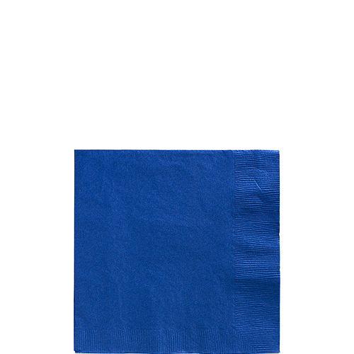 Royal Blue Paper Beverage Napkins, 5in, 100ct Image #1
