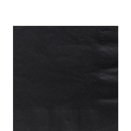 Big Party Pack Black Lunch Napkins 125ct Image #1