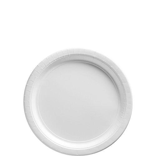 White Paper Dessert Plates, 6.75in, 50ct Image #1