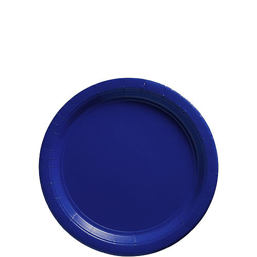 Royal Blue Paper Dessert Plates, 6.75in, 50ct Image #1