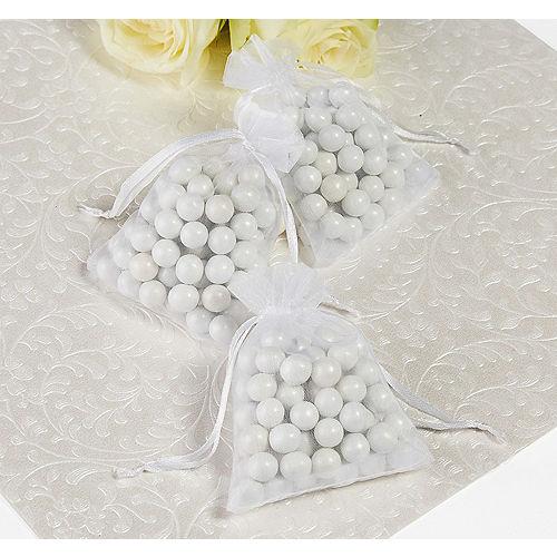 White Organza Favor Bags Image #1