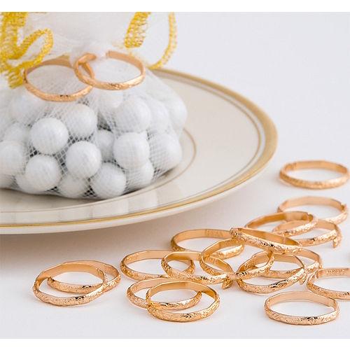 Gold Wedding Band Favor Charms Image #1
