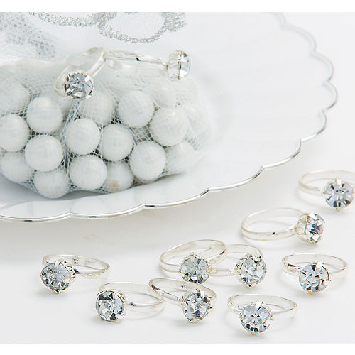 Silver Engagement Ring Favor Charms Image #1