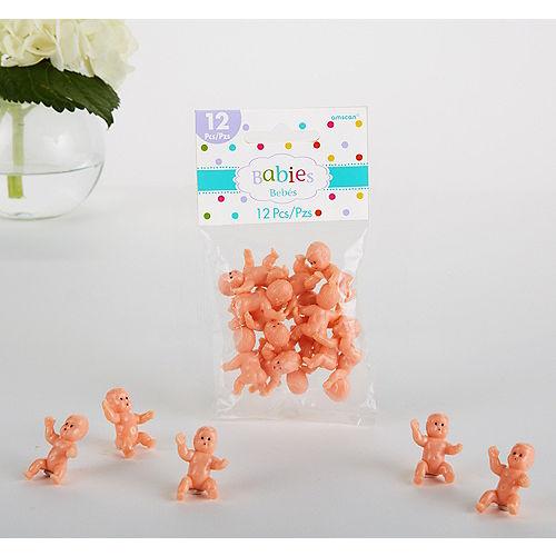 Mini Plastic Babies Baby Shower Favor Charms 12ct Image #1