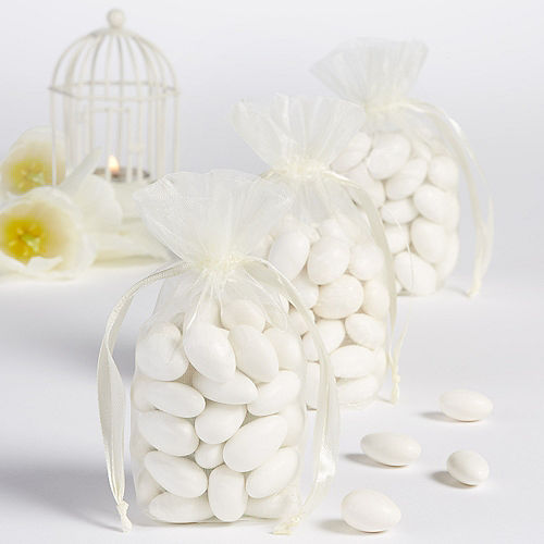 Ivory Organza Standing Favor Bags 12ct Image #1