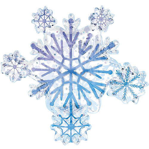 Foil Snowflake Cluster Balloon 26in, 26in Image #1