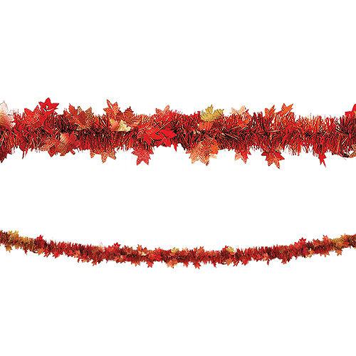 Fall Leaf Tinsel Garland Image #1
