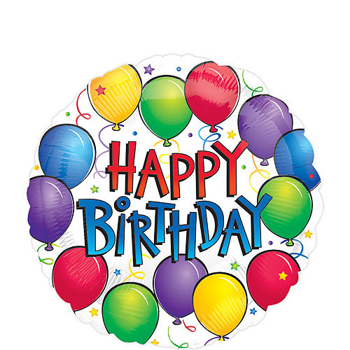 Fun Happy Birthday Balloon, 18in Image #1
