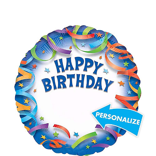 Personalized Celebration Happy Birthday Balloon, 17in Image #1
