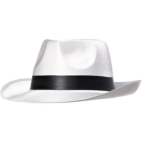 White Gangster Hat Image #1