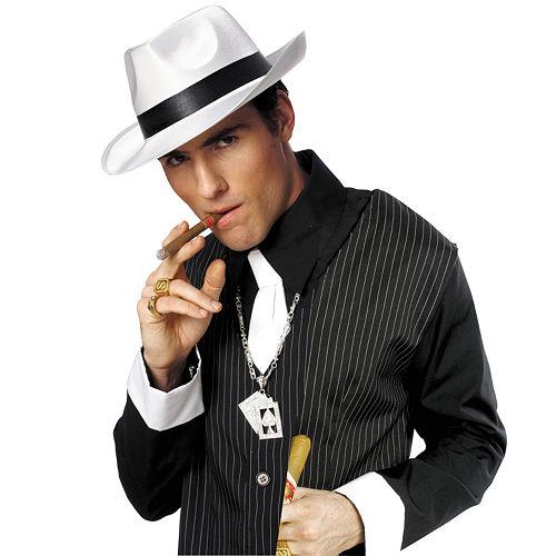 White Gangster Hat Image #2