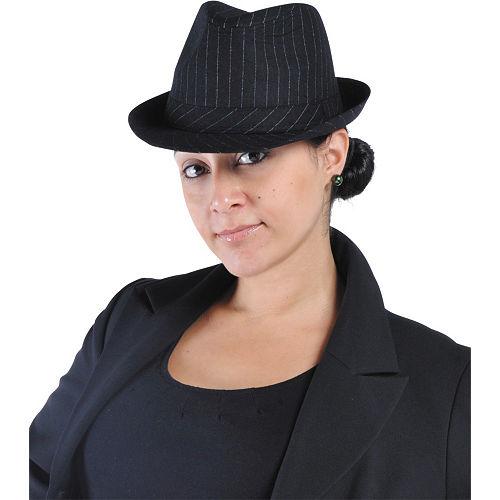 Pinstripe Fedora Hat Image #2