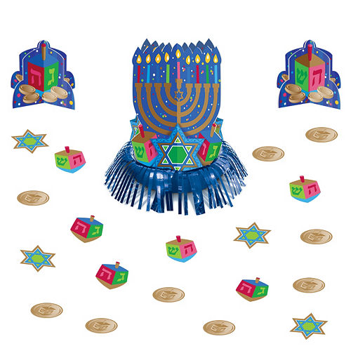 Hanukkah Table Decorating Kit 15pc Image #1