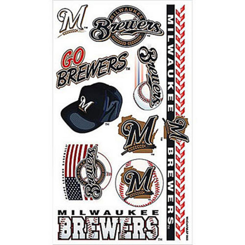 Milwaukee Brewers Tattoos 10ct Image #1