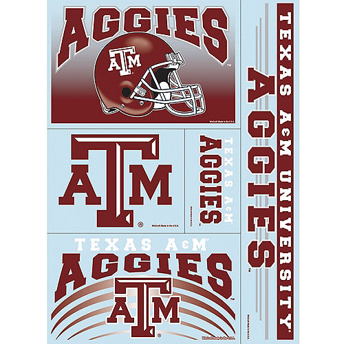 Texas A&M Aggies Decals 5ct Image #1
