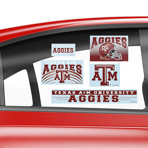 Texas A&M Aggies Decals 5ct Image #2