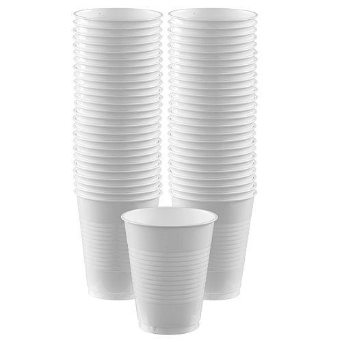 White Plastic Cups, 16oz, 50ct Image #1