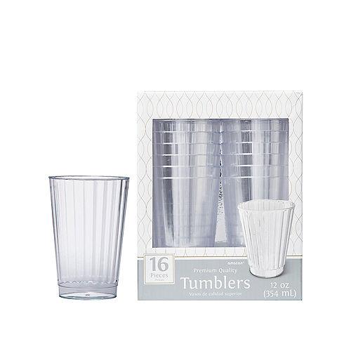 CLEAR Premium Plastic Cups 16ct Image #1