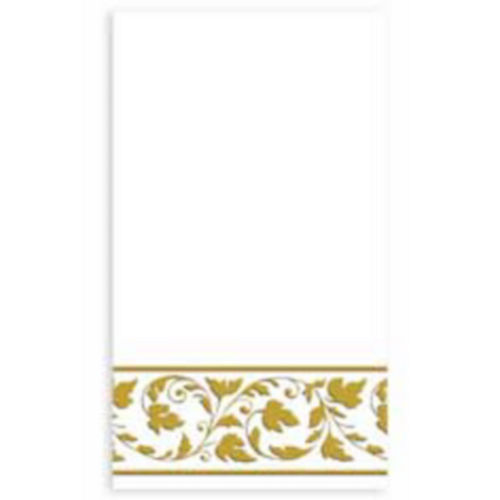 White Gold Scroll Premium Guest Towels 24ct Image #1