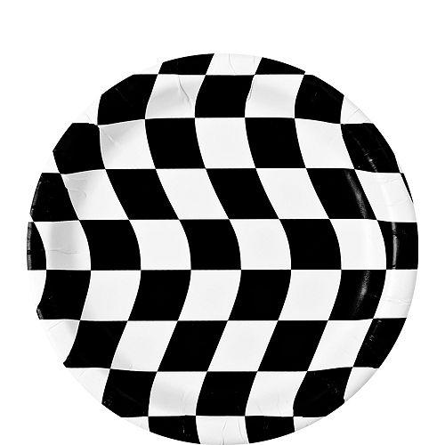 Black & White Checkered Dessert Plates 8ct Image #1
