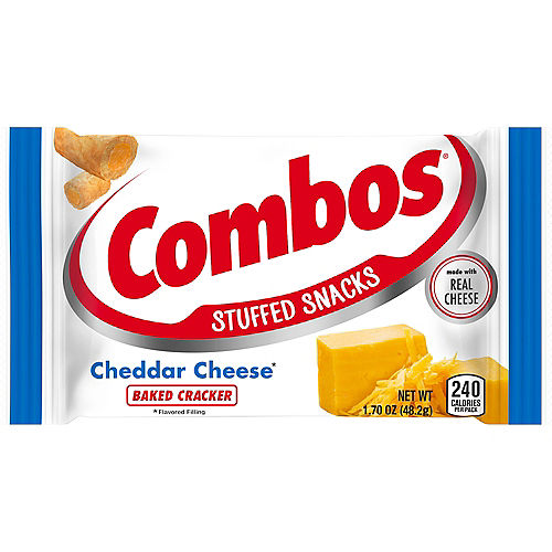 Combos Stuffed Baked Cracker Snacks, 1.7oz - Cheddar Cheese Image #1