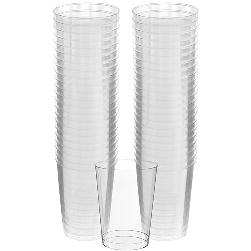 Big Party Pack CLEAR Plastic Cups 72ct Image #1