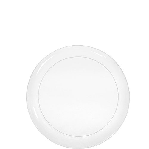 Big Party Pack CLEAR Plastic Snack Plates 32ct Image #1