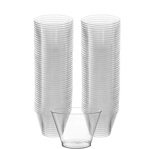 Big Party Pack CLEAR Plastic Cups 88ct Image #1