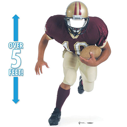 Football Player Life-Size Photo Cardboard Cutout, 68in Image #1