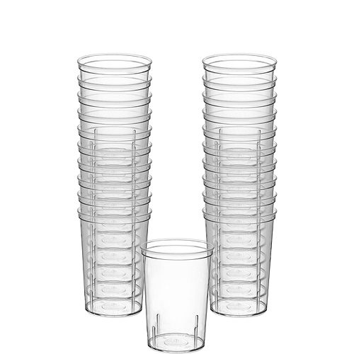 Big Party Pack CLEAR Plastic Shooter Glasses 20ct Image #1