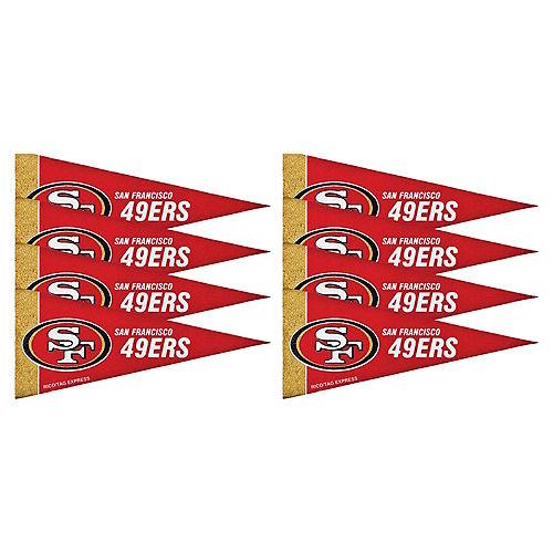 San Francisco 49ers Pennants 8ct Image #1