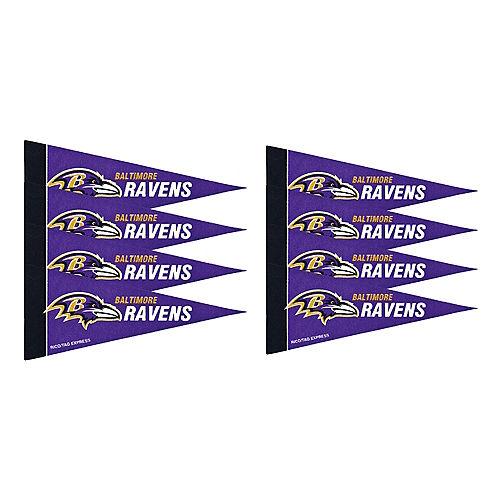 Baltimore Ravens Pennants 8ct Image #1