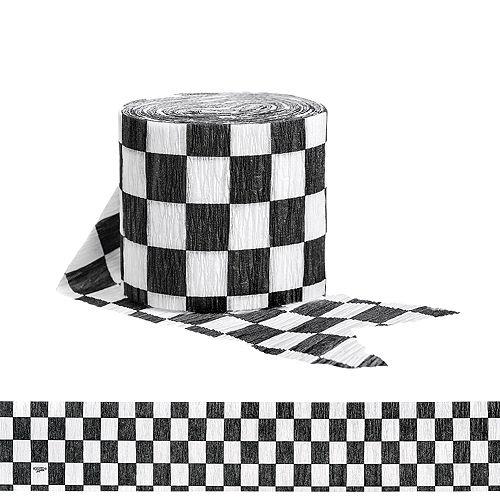 Black & White Checkered Streamer Image #1