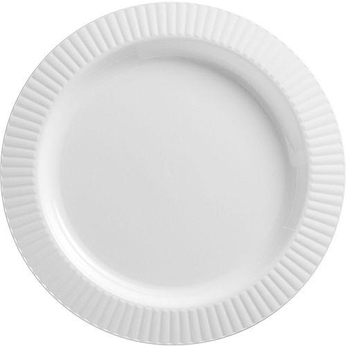 White Premium Plastic Dinner Plates 16ct Image #1