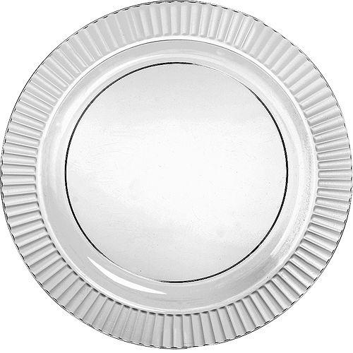 CLEAR Premium Plastic Dinner Plates 16ct Image #1