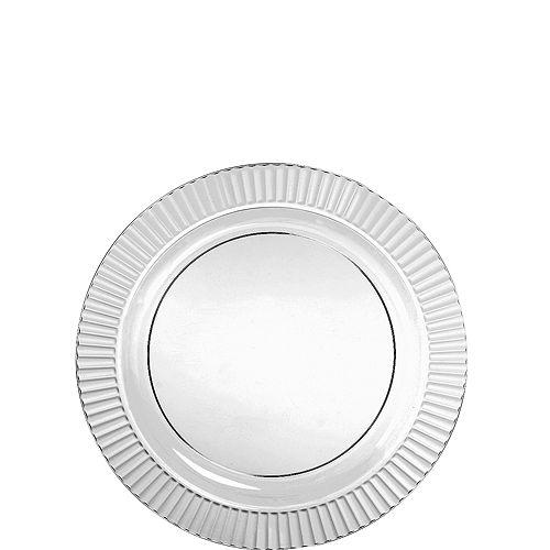 CLEAR Premium Plastic Dessert Plates 32ct Image #1