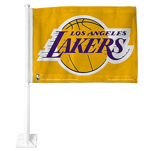 Los Angeles Lakers Car Flag Image #1