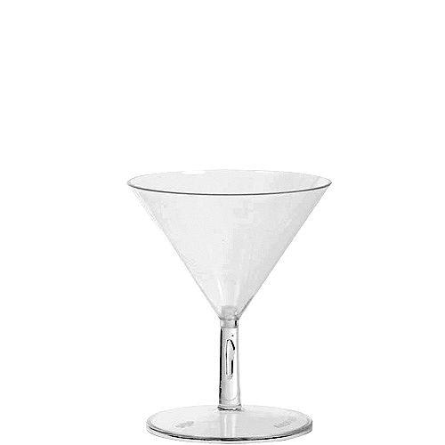 Mini CLEAR Plastic Martini Glasses 20ct Image #1
