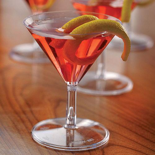 Mini CLEAR Plastic Martini Glasses 20ct Image #2