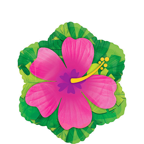 Pink Hibiscus Balloon, 17in Image #1