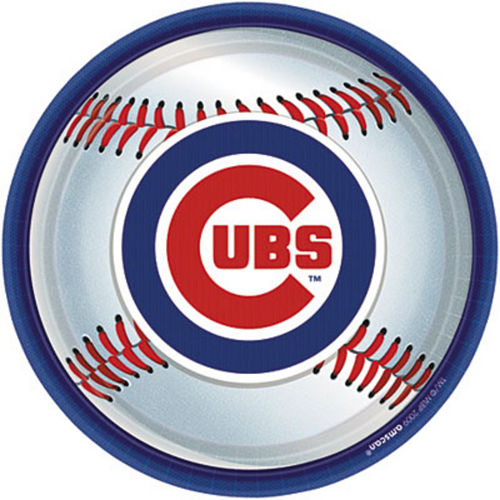 Chicago Cubs Lunch Plates 18ct Image #1