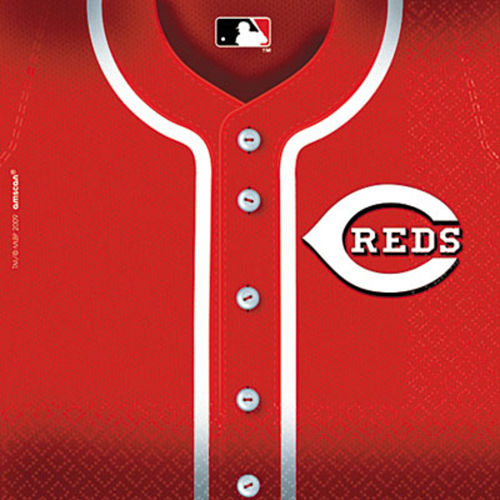 Cincinnati Reds Lunch Napkins 36ct Image #1