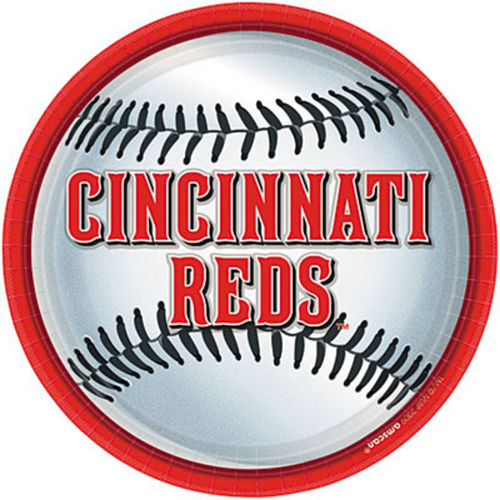 Nav Item for Cincinnati Reds Lunch Plates 18ct Image #1
