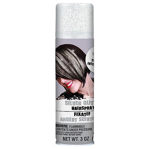 Glitter Silver Hair Spray Image #1