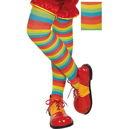 Rainbow Striped Tights Image #1