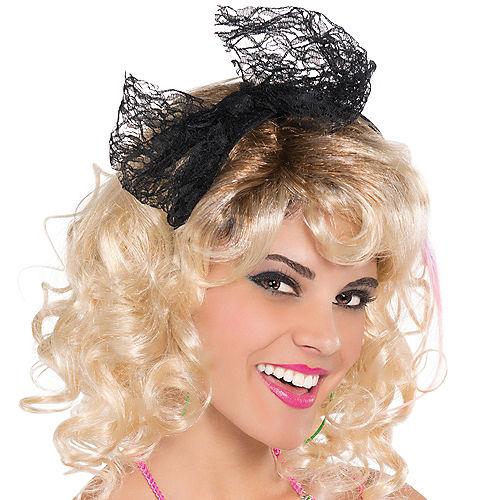 80s Black Headband Image #3