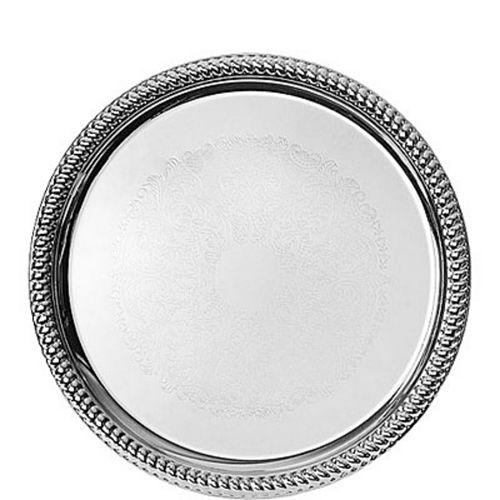 Chrome Braided Edge Platter Image #1