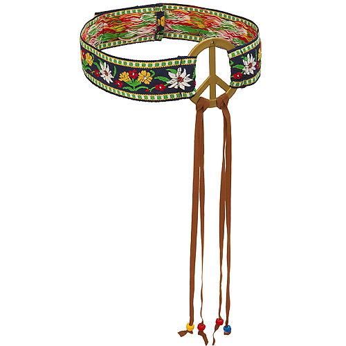 Peace Sign Hippie Headband Image #1